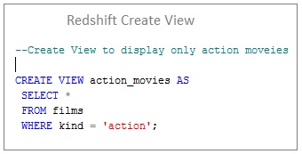Amazon Redshift Create View Syntax and Examples - DWgeek com