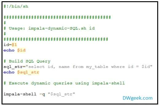 Impala Dynamic SQL Support and Alternative Approaches - DWgeek com